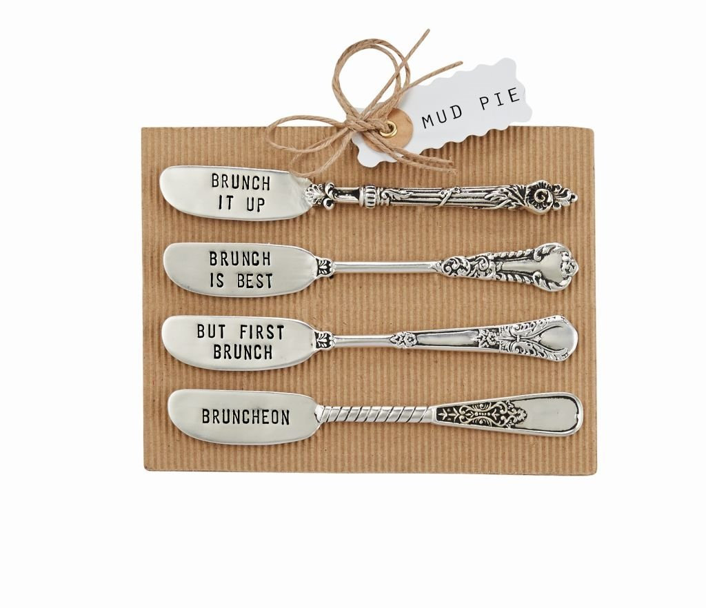 Mud Pie Circa Metal Stamped Brunch Spreader Set