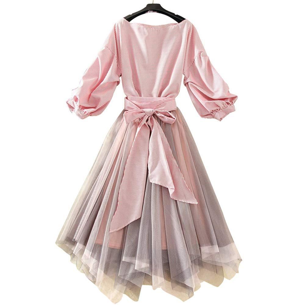 Retro Skirt Spring Women's Girlfriends Dress Suit Women's TwoPiece Set of Foreign Gas (Size   XL)