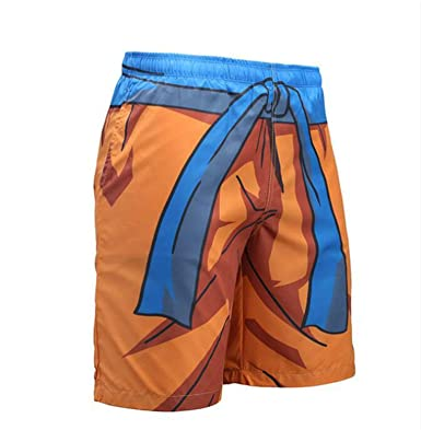 16098b31e2 Amazon.com: New 2018 Print 3D Anime Dragon Ball Goku Shorts Men Summer  Casual Quick Dry Breathable Joggers Beach Shorts: Clothing