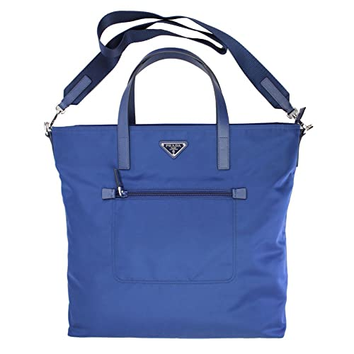 e85080cb5b ... italy prada blue nylon tote bag with shoulder strap b2530t royal 7cc16  f8f51 ...