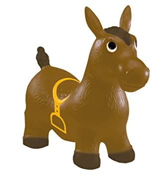d51636db1f2 John Cheval sauteur Hop Hop Pony sauteur Wild West Marron 52 cm ...