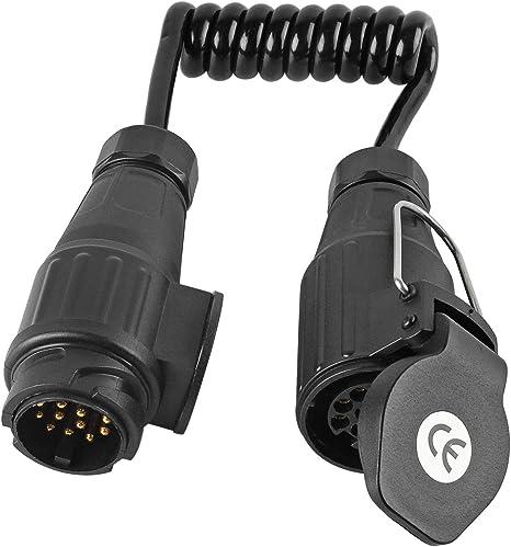 Remorque Adaptateur Connecteur 13 à 7 broches pour auto voiture attelage de remorque prise de courant