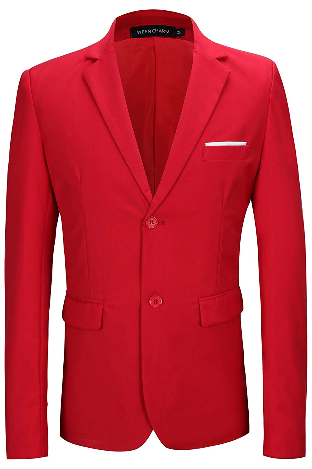 WEEN CHARM Mens Blazer Jacket Slim Fit Casual Two Button Solid Suit Separate Jacket