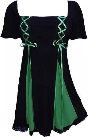Dare to Wear Victorian Gothic Boho Women's Plus Size Gemini Princess S/S Corset Top