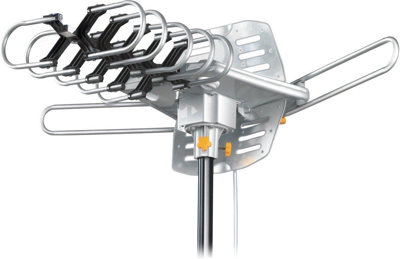Esky174 - Antena para exterior HDTV con mando a distancia UHF/VHF (rotación de 360 grados, versión estadounidense HG-995)