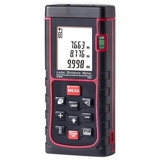 223 opinioni per Metro Laser 60m, GRDE Misuratore Laser di Distanza Professionale, Telemetro