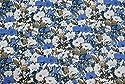 リバティ風 小花柄 綿100% 生地 146cm幅 (ブルー 146cm幅×3m)の商品画像