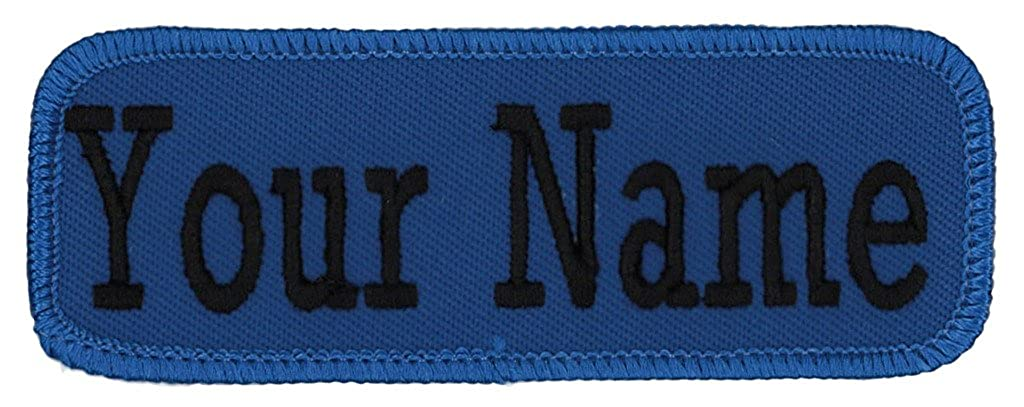 Name Tag Personalized and Embroidered 4 Wide x 1.5 Tall in Multiple Colors and Styles
