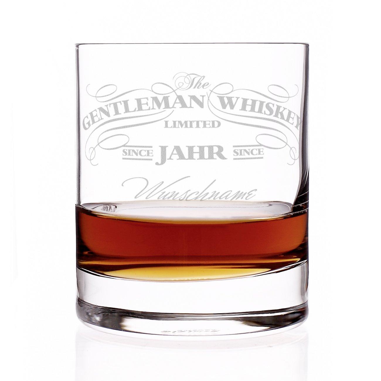 Privatglas Whiskey Glas - Gentleman Whiskey Design - Gratis Gravur ...
