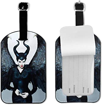 Sleeping Beauty Maleficent Wood Travel Luggage Tag Bag Accessory