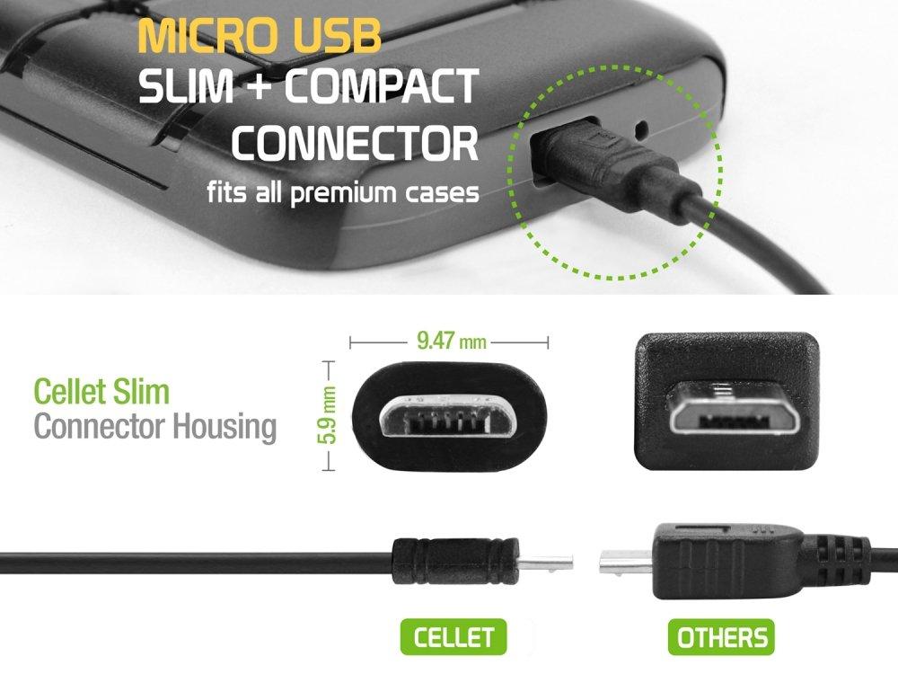 Amazon.com: Cellet 1 Amp 5 Watt Micro USB Retractable Car Charger ...