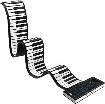 Lujex 88 Teclas Enrollar Piano Teclado Electronico, Silicona ...