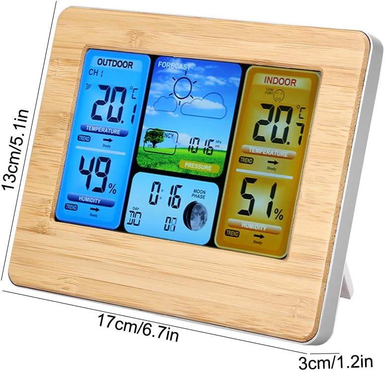 Zerodis Home Wireless Weather Forecast Station LCD Digital ...