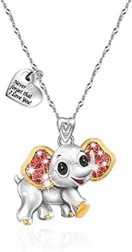 FREE GIFT BAG Silver Plated Elephant Animal Cute Necklace Chain Cute Jewellery