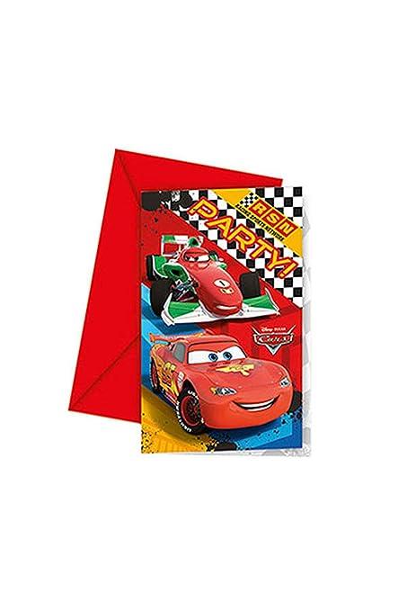 Amscan Rsn 6 Tarjetas De Invitación Con Diseño De Cars De