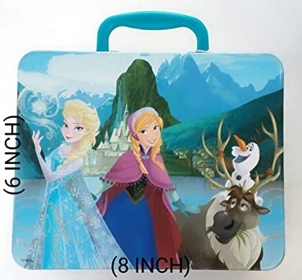 MSGH 48 Pcs Puzzle Tin Box with Handle Pack of 1 Pcs (Barbie)