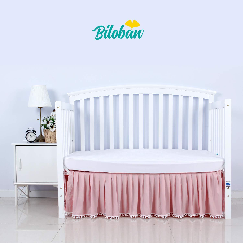 Amazon Com Loaol Baby Crib Bumper Pads With Pom Pom
