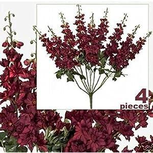 "FOUR 26"" Delphinium Artificial Flower Bushes Wedding BU 17"