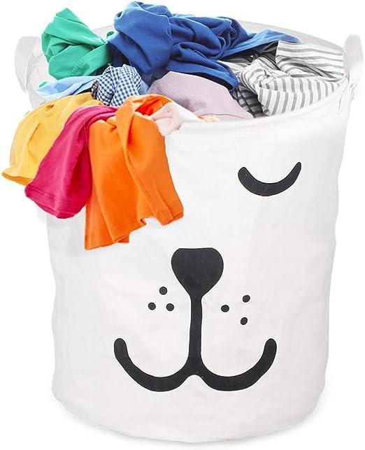 Kids Baby Room Toys Storage Bag Cotton Laundry Basket Drawstring Bag FI