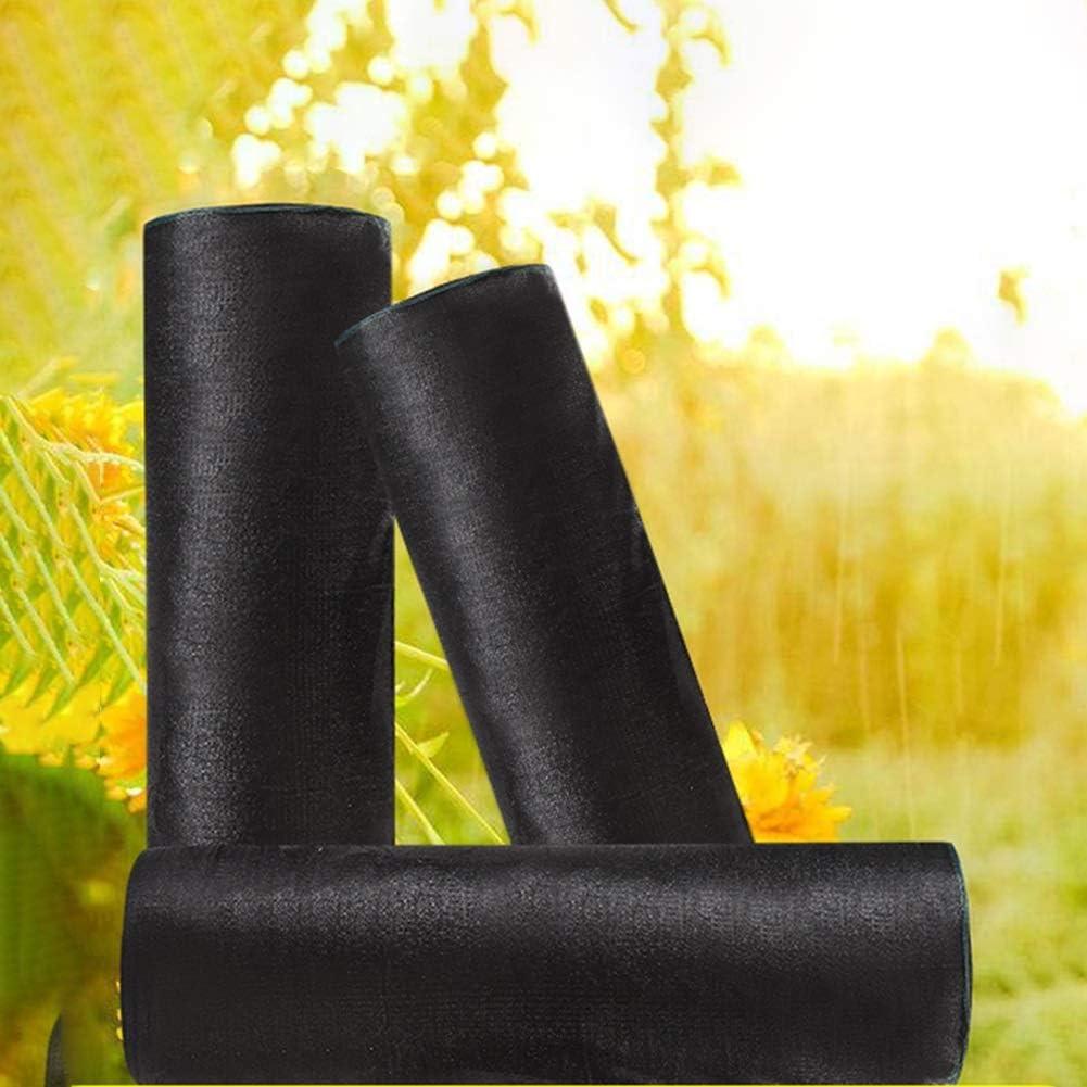 SHIJINHAO-Malla Sombra De Red Shade Neto cifrado Espesar de Protección Solar Aislamiento Anti-Aging Invernadero Flores de la Planta de toldos Toldo Agrícola (Color : Black-B, Size : 3X15M)