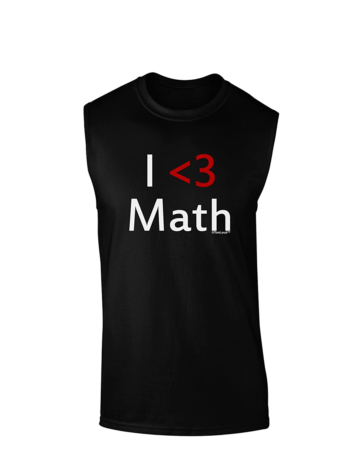 TOOLOUD I Heart Math Dark Muscle Shirt