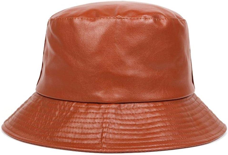A-HXTM Sombrero de Cubo Sombreros de Cuero sint/ético de algod/ón PU Gorros de Pescador de Tapa s/ólida Aplicar a Vacaciones de Camping Caza Viaje y Muchos m/ás