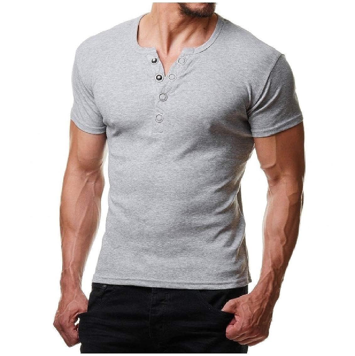Freely Mens Athletic Leisure Short Sleeve Plus Size Shirts T-Shirt
