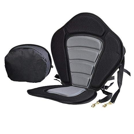 New Adjustable Kayak Padded Seat+Detachable Canoe Backrest Back Bag Seat HOT