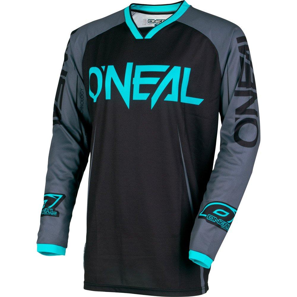 O'Neal Mens Mayhem Lite  Blocker Jersey (Black/Gray/Teal, Medium)