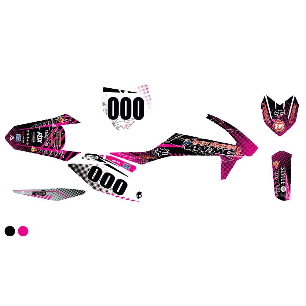 Attack Graphics カスタム Havoc コンプリート バイク グラフィック キット ブラック/ピンク - 適合: KTM 350 XC-F 2011-2018。   B07BGHJTMK