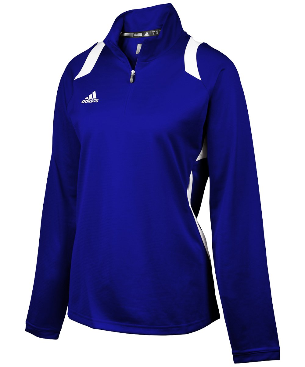 adidas Women's Game Day 1/4 Zip - Collegiate Royal/White - Small by adidas