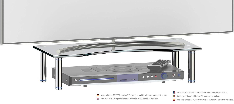 RICOO Soporte de Base para TV y Monitor FS5624-B Mueble Mesa de ...