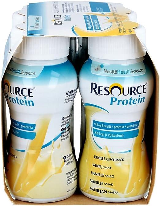 Resource - Bebida proteína de vainilla, 4 unidades de 200 ml