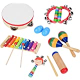 Toddler Musical Instruments, 13 Pcs Wooden Percussion Early Education Toys for Kids Preschool Education Birthday Gifts…