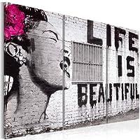 murando – Cuadro 120×80 – impresión de 3 piezas en material tejido no tejido impresión artística fotografía imagen gráfica – decoración de pared Banksy 030115-3