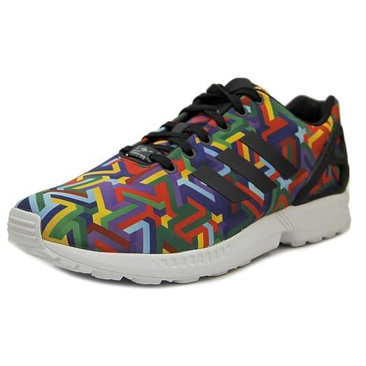 Adidas Originals Mens ZX Flux Torsion Rainbow Multicolor Sneakers (11 M US)
