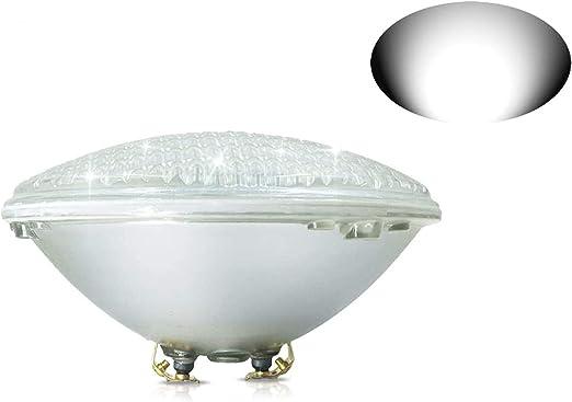 12V AC//DC IP68 Wasserdicht Unterwasser Pool Scheinwerfer ersetzen 300W Halogen Spot COOLWEST 36W Warmwei/ß LED Poolbeleuchtung PAR56 Unterwasserleuchten MEHRWEG
