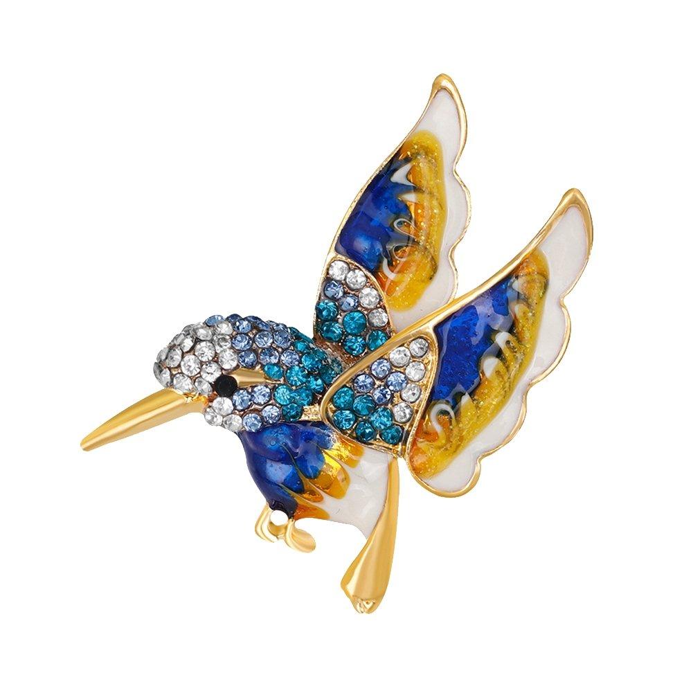 pu ran Womens Fashion Bird Rhinestone Alloy Brooch Pin Dress Sweater Clothes Ornament