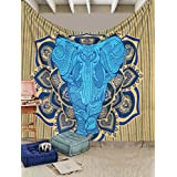 Mntreal Tpassier LARGE QUEEN SIZE Indian Hippy Tie dye elephant Tapestries,bed sheets ,bed spread,hippy bed sheets,wall hangings,ethnic decor,home decor bed sheets,throw,picknic blankets,dorm tapestries By Montreal Tappesier