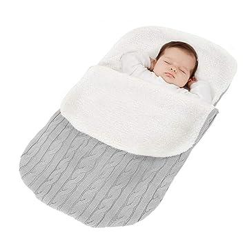 Tukistore Recién Nacido Bebé Tejido de Punto Envoltura Manta Saco de Dormir: Amazon.es: Electrónica
