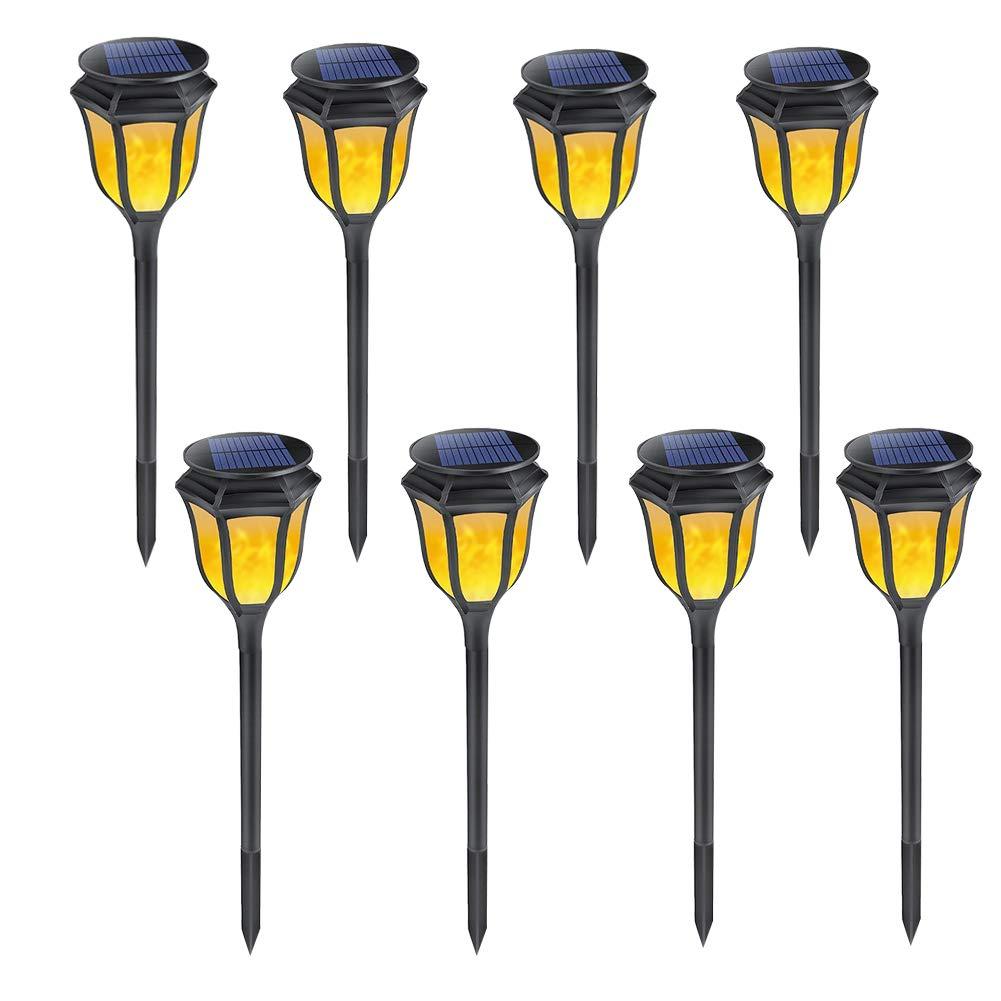 LEDソーラーフレイムちらつき芝生ランプ現実的なダンスフレイムライト防水屋外ソーラーパネルガーデン装飾炎ランプ B07K7BJFRT  D