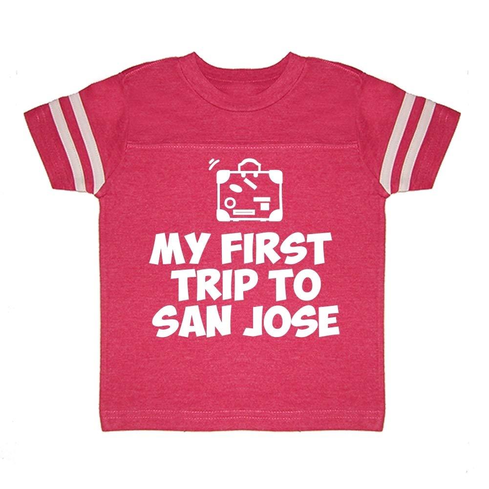 Toddler//Kids Sporty T-Shirt My First Trip to San Jose