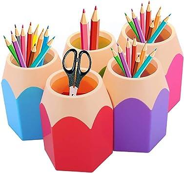 1Stk B/üroszubeh/ör Stiftehalter Stiftest/änder Feder Pot Bleistifte Box Organizer Stiftebecher Plastik