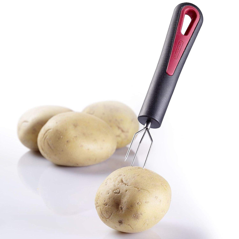 Westmark 29142270 Potato Fork'Gallant', 6.3 x 1.1 x 0.8', Black/Silver/Red