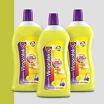Asian Paints Viroprotek Ultra Disinfectant Floor Cleaner Citrus – 500 ml each (Pack of 3)