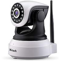 Cámara IP WiFi, Hi-tech Cámara de Vigilancia WiFi Interior Inalámbrica, HD1280 x 1080p- P2P con Micrófono y Altavoz, Visión Nocturna, Detección de Movimiento, Camaras de Seguridad para Bebé y Mascota