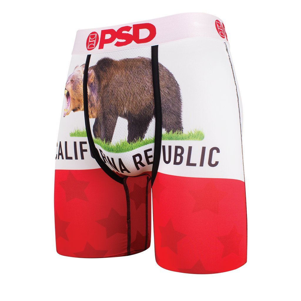 Large Red PSD Mens Jimmy Butler Signature Line California Republic Athletic Boxer Brief
