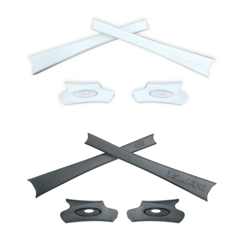 HKUCO Black/Green/White/Grey Replacement Rubber Kit For Oakley Flak Jacket/Flak Jacket XLJ Sunglass Earsocks rW1xhYEJfc