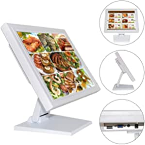 """15"""" Touchscreen Monitor LED Screen for Computer VGA POS Cashier Restaurant Bar Coffee Donut Store Menu Order Point of Sale Designer Graphic Draw Sketching"""