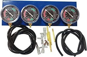 Universal Motorcycle Vacuum Carburetor Synchronizer Synchronization Balancer Carb Sync Balancing Gauge KitSuitable for 2, 3 or 4 cylinder engines Motorcycle